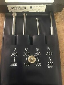 Brown And Sharpe 599 596 Small Hole Gage Set 125 5 With Pouch