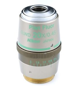 Nikon Cfi Plan Fluor Elwd 20x 0 45 Ph1 Adl Objective For Phase Contrast