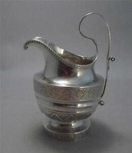 Chaudron Rasch Exquisite Coin Silver Cream Pitcher Southern Philadelphia