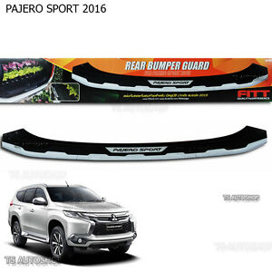 Fitt Rear Tailgate Bumper Guard Cover For Mitsubishi Montero Pajero Sport 2016