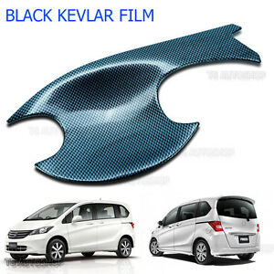 Black Carbon 4 Door Set Bowl Handle Housing Insert Cover Fit Honda Freed 2010 15