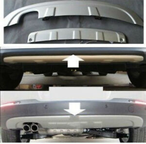 Front Rear Bumper Protector Guard Skid Plate For Vw Tiguan 2009 2012 Aa