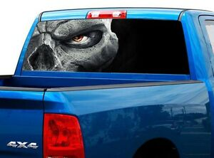 P450 Skull Rear Window Tint Graphic Decal Wrap Back Truck Tailgate