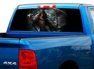 P459 Grim Reaper Rear Window Tint Graphic Decal Wrap Back Truck Tailgate