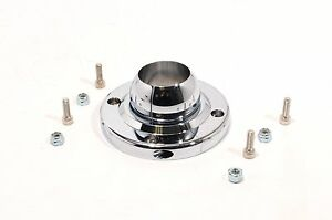 1 3 4 Chrome Aluminum Swivel Ball Floor Mount For Steering Column