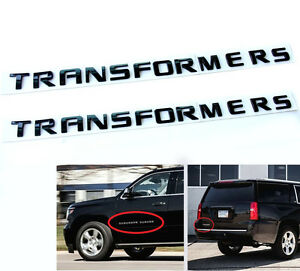 2x Oem Black Transformers Hero Emblem Badge Letter 3d Y For Jeep F150 Suburban
