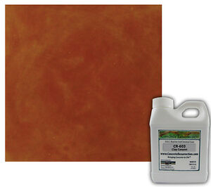 Professional Easy To Apply Concrete Acid Stain clay Canyon 16oz