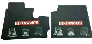 Kenworth Oem Black Rubber Floor Mats W Red Logo Fits 2001 05 T600 T300 T800 W900