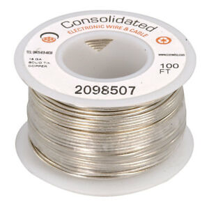 18 Awg Solid Tinned copper Bus Bar Wire 100 Feet