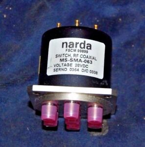 Narda Ms sma 063 Rf Coaxial Switch 28 Vdc New
