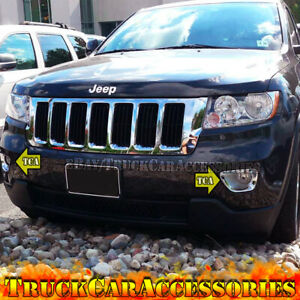 2 Front Chrome Fog Lamp Lights Covers For 2011 2012 2013 Jeep Grand Cherokee Usa