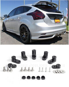 Black Spoiler Lip Wing Riser Raiser Kit For 13 18 Ford Focus St Hatchback 4dr