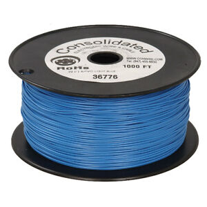 22 Awg Blue Solid Tinned copper Hook up Wire 1000 Feet