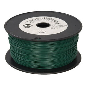 22 Awg Green Solid Tinned copper Hook up Wire 1000 Feet