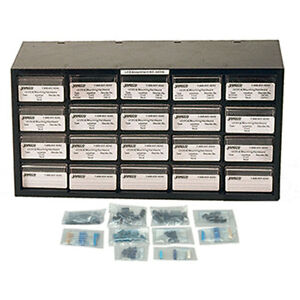 140 Piece Axial Capacitor Component Kit