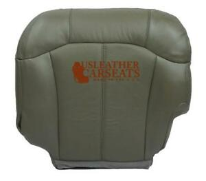 2000 2001 2002 Chevy Suburban Tahoe Driver Bottom Leather Heated Seat Cover Gray
