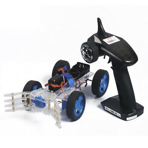 Assembling Diy Smart Car Kit Servo Steering Remote Gripper With Remote Control