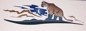Cougar Big Cat Decal Camper Rv Motorhome Mural Graphic Sticker Decals Tailgate