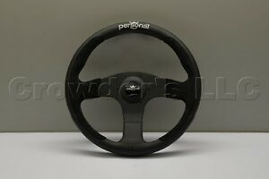 Personal Pole Position Steering Wheel 330mm Black Leather Black Suede