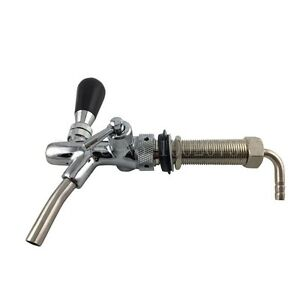 Adjustable Draft Beer Faucet With Long Shank Chrome Plating Bar Kegerator Beer