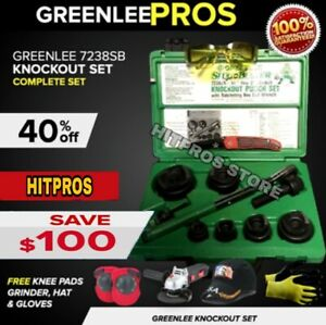 Greenlee 7238sb Slug Buster Knock Out Set Preowned Free Grinder Fast Ship
