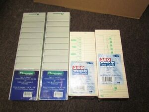 2 X Acroprint 12 Pocket Badge Rack And 2 Pack Time Cards For Time Recorder