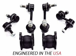 6pc Front rear Sway Bar Links Front Bushings 2004 06 Acura Tl 2003 07 Accord