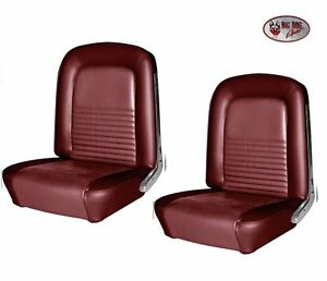 1967 Mustang Fastback Front Rear Seat Upholstery Dark Red Metallic By Tmi