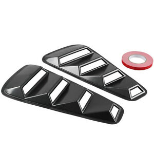 Side Window Louvers Scoop Cover Vent For Ford Mustang 05 14 Carbon Fiber