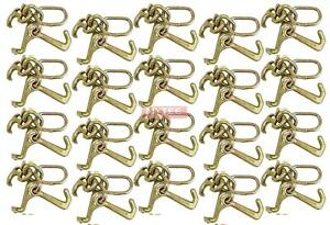 20 Pack Rtj Cluster Hook Heavy Duty Wrecker Hauler Tow Towing Truck Chain Pair