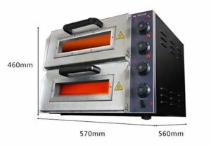 Eco 220v 16 Commercial Double Electric Pizza Oven Pizza Bread Making Machines