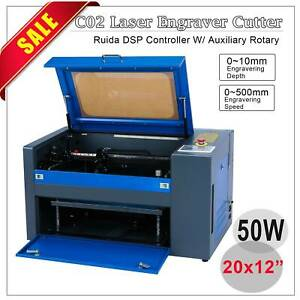 40w Laser Engraving Machine With Exhaust Fan Usb Port 12 x 8