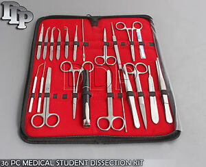 36 Pc Medical Student Dissection Kit Surgical Instrument Kit W scalpel Blade 22