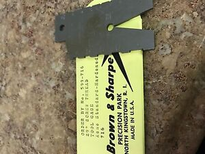 Brown And Sharpe 599 716 29 Degrees Screw Thread Tool Gage