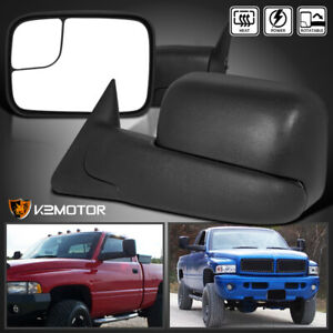 1998 2001 Dodge Ram 1500 1998 2002 2500 3500 Flip Up Power Heated Tow Mirrors