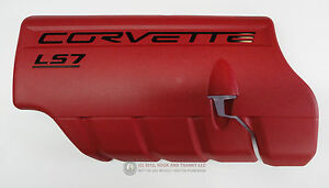 06 13 Ls7 Corvette Z06 Fuel Rail Engine Coil Cover Lh New Gm Red