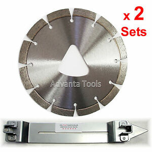 2pk 6 Laser Welded Early Entry Green Concrete Diamond Blades W 2 Skid Plates