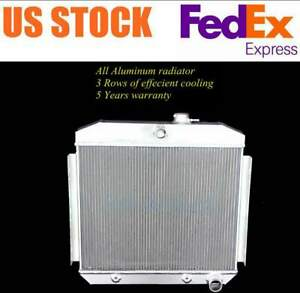 3 Rows Fit 1955 1956 1957 Chevy Bel Air L6 All Aluminum Radiator