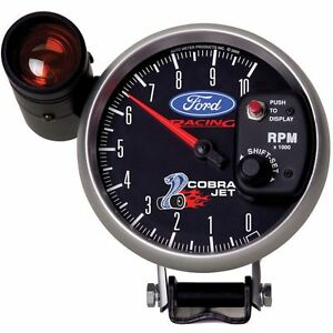 Autometer Ford Racing Tachometer 0 10 000 5 Dia Black Face 880281