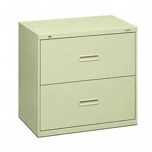Basyx By Hon 2 Drawer Lateral File Cabinets With Lock 432ll