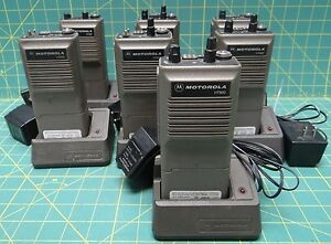 Lot Of 7 Motorola Ht600 Handie talkie Two way Radios No Antennas 6 Channels