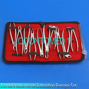 Dental Instruments set Of Extraction Forceps English Patern Pkt Of 10 Pcs dn 435