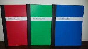 Qty 3 Tops Poly Cover Composition Book Wide Ruled 100 Pages Each 3 Books