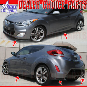Fits 2012 2017 Hyundai Veloster 5 Piece Sequence Style Body Kit Aero Lip Pp