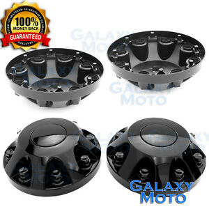 11 16 Gmc Sierra Dually Model Black 17 2x Front Set Wheel Center Hub Cap Cover