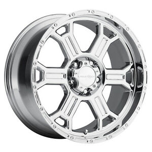 17 Vision 372 Raptor Chrome Wheel 17x8 8x6 5 25mm Chevy Silverado Gmc 8 Lug Rim