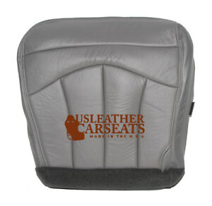 1999 Ford F150 Lariat Driver Side Bottom Replacement Leather Seat Cover Gray