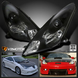 For 2000 2005 Toyota Celica Black Projector Headlights Replacement Left right