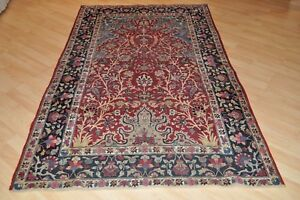 19th Century Antique Persian 5 X 7 Kerman Rug Authentic Handmade Hand Knotted