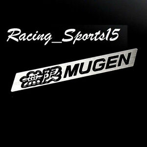 3d Car Trunk Spoiler Emblem Badge Sticker Decal Mugen Black For Honda Civic Si
